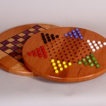 Double-Sided Game Board: Cherry About 16″ Diameter Marbles included. $75.00
