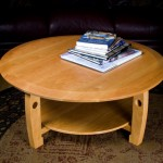 "Coffee Table: 2007 Cherry 42"" dia, 17"" tall $1200"