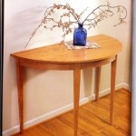 "Demilune Table: 2003 Cherry 40"" wide, 19"" deep, 29"" tall $500"
