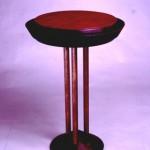 "Round Table: 1989 Cherry, Bubinga About 20"" dia, 24"" tall $450"