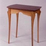 "Small Side Table: 1999 Red Oak, Mahogany About 28"" tall, 18"" wide, 12"" deep $400"