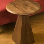 "Tilt Top Table: 2008 Walnut 18"" dia, 25"" tall $450"