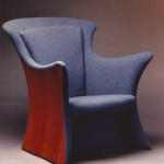 "Upholstered Chair: 1997 Cherry, Fabric 36"" tall, 33"" wide, 36"" deep $1800"