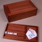 "Game Box: 2006 Mahogany 13"" long, 8"" wide, 4"" tall includes 4 games $400"